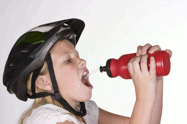 durstiger Radfahrer