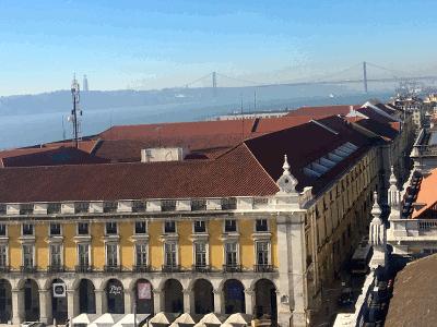 Lissabon Blick vom Arco da rua Augusta=