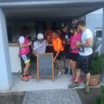 die ersten Gäste der Radler Rast