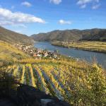 view downstream danube from hinterhaus castle spitz
