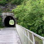 Ehemaliger Eisenbahn Tunnel der Ybbstalbahn in Opponitz