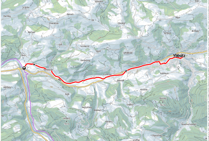 Der kleine Ybbstalbahnradweg nach Ybbsitz