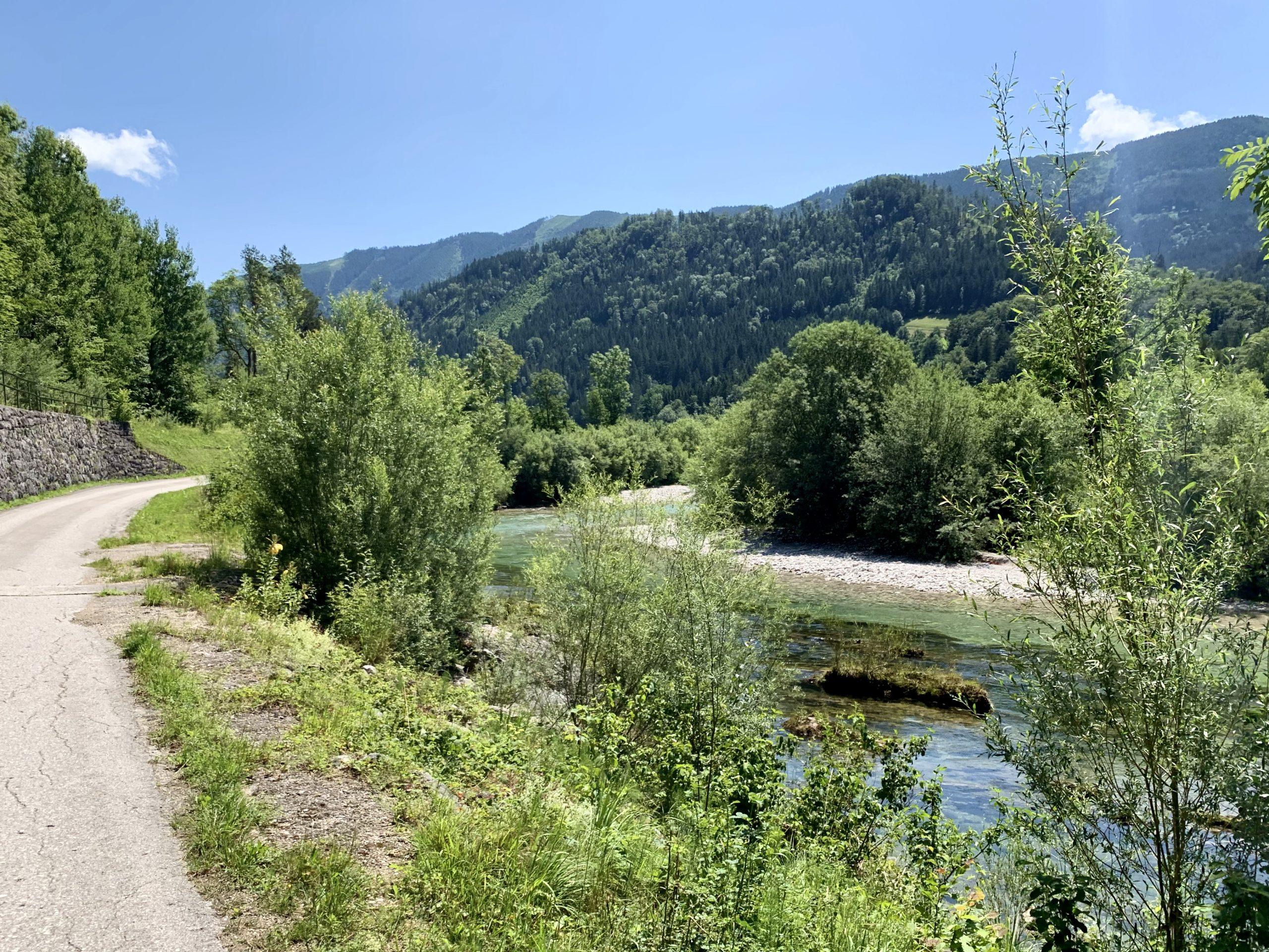 ybbstalbahnradweg neben der Ybbs