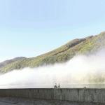 Nebel auf der Donau in der Wachau bei Oberarnsdorf