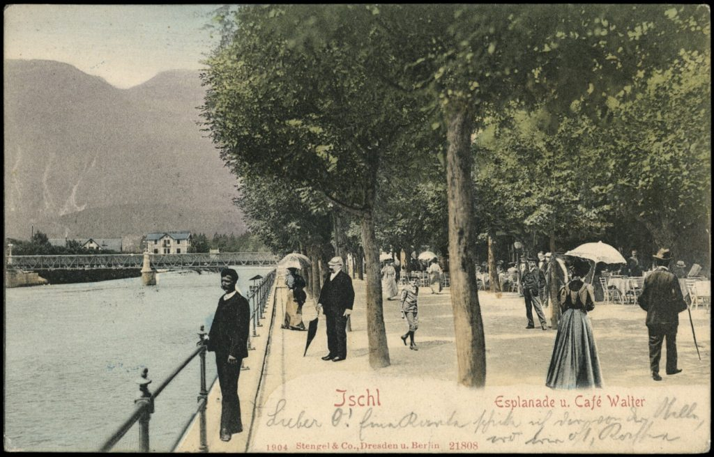 Die Esplanade in Ischl