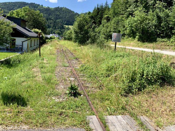 Schienen der Ybbstalbahn