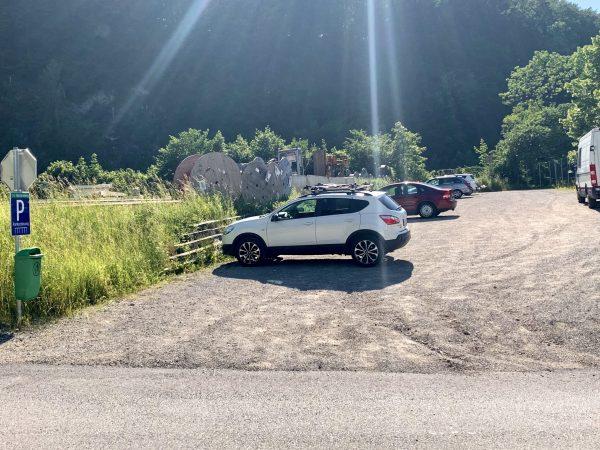 Ybbstalradweg Parkplatz in Waidhofen Gstadt